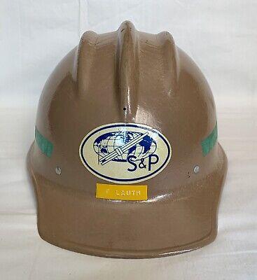 Vintage E.d. Bullard 502 Hard Boiled Fiberglass Ironworker Hard Hat W Liner