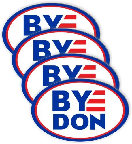 "4 Pack BYEDON Joe Biden for President 2020 Bumper Sticker Decal oval 5.5""x3.5"""