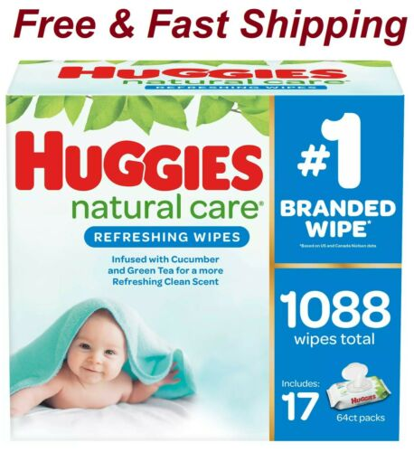 ✔️Huggies Natural Care Baby Wipe Refill, Refreshing Clean (1,088 ct.)