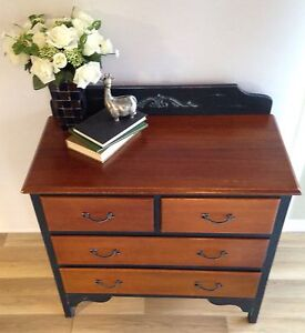 Vintage French provincial style silky oak drawers Greenbank Logan Area Preview