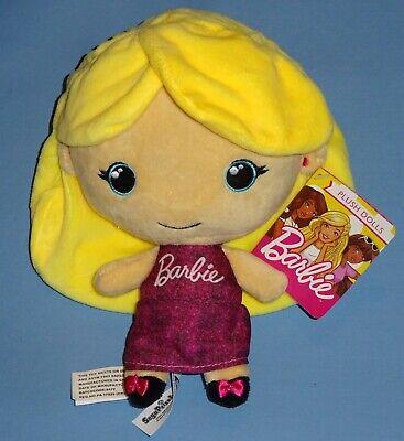 Plush Barbie Girl Doll-SEGA Prize International 2018 Mattel-LONG HAIR & DRESS