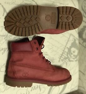 Timberland Boots Red Size 6 Youth/ Men's