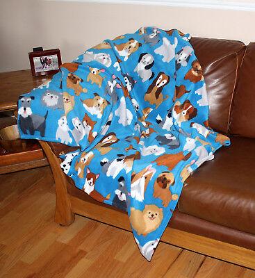 Super Soft Fleece ~ Throw Blanket ~ Dog Themed ~ High Quality Handmade