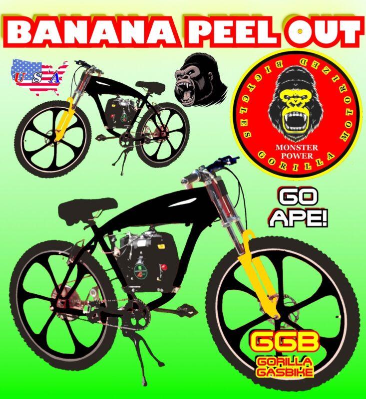 "motorized bike Kit With 26"" Cruiser Gas Tank Frame Bike High Power DIY"