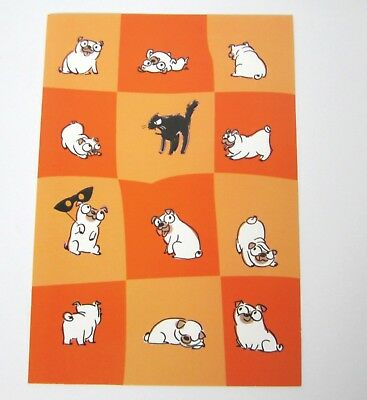 Pug Halloween Card with Envelope (Halloween Pugs)
