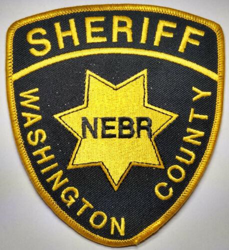 Washington County Nebraska Sheriff Patch /// FREE US SHIPPING!