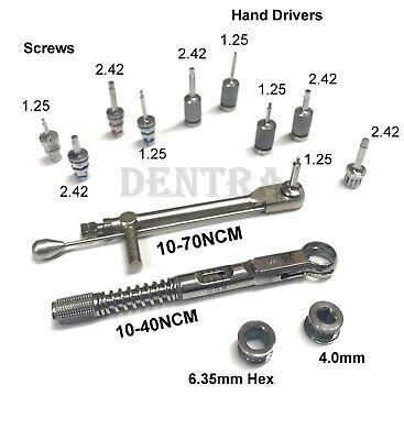 Dental Implant Torque Wrench Ratchet 10-70 10-40ncm Hex Screw Hand Drivers