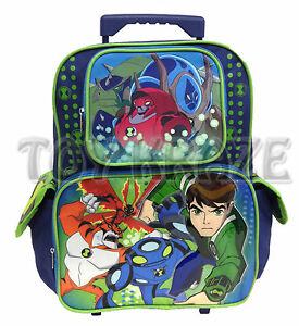 BEN-10-ROLLER-BACKPACK-ULTIMATE-ALIEN-GROUP-LARGE-ROLLING-SCHOOL-BAG-16-NWT