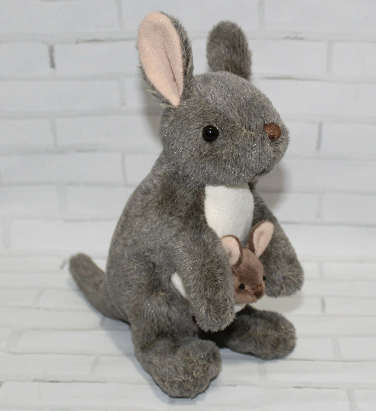 Wild Republic Kangaroo with Joey Plush, Stuffed Animal, Plus