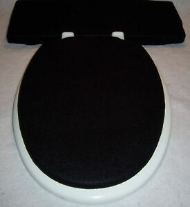 Toilet Tank Cover EBay - Black elongated toilet seat cover