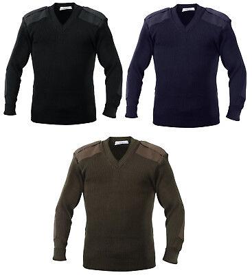 v-neck sweater NATO military style acrylic black green blue mens rothco 6345