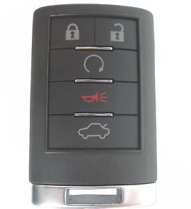 NEW CTS DTS CADILLAC SMART PROX REMOTE KEY KEYLESS TRANSMITTER ENTRY 5 BUTTON RS