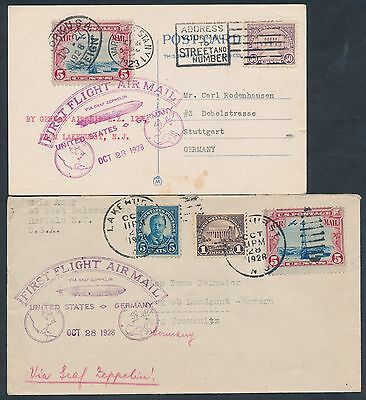 Lz127 First Flight Cover Group  4  Different 1928 Scarce Bt8447