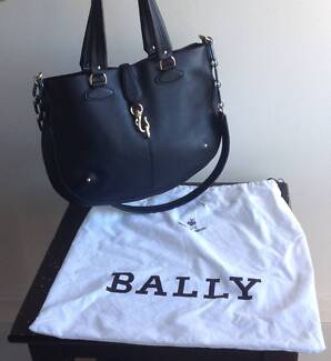 Authentic Bally Moritz Black Leather Bag