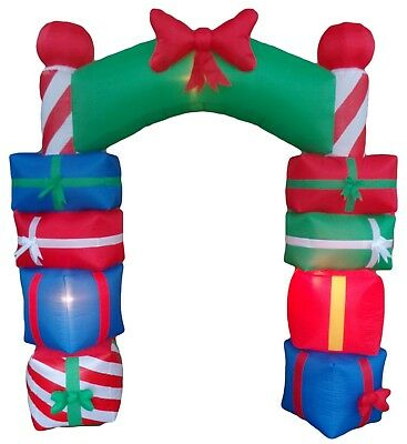 Christmas Air Blown Inflatable Yard Decoration Archway Stack Gift Boxes Bow - Christmas Archway Decoration