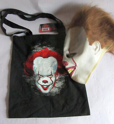 Halloween-Set Clown Maske Es Pennywise  Latex mit Sammeltasche Baumwolle