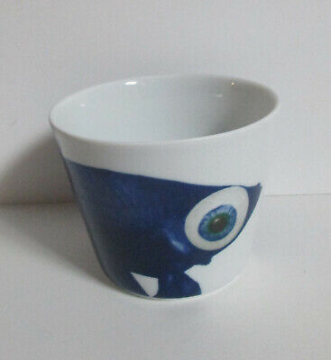 IKEA Blue Betta Fighting Fish Ceramic Bowl or Cup Giltig by Katie Eary