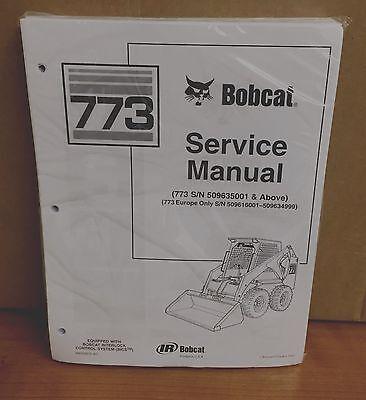 Bobcat 773 Skid Steer Loader Complete Shop Service Manual 1 Pn 6900092
