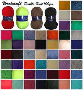 DK-Wool-Woolcaft-Double-Knit-100g-Knitting-Crochet-Yarn-Over-40-Colours