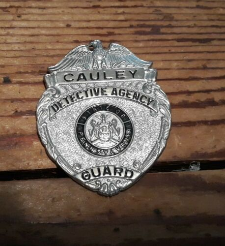Cauley Detective Agency State of Pennsylvania Guard badge