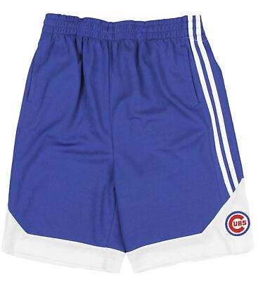 MLB Baseball Kids / Youth Chicago Cubs Striped Shorts - Royal Blue / White - Mlb Kids Shorts