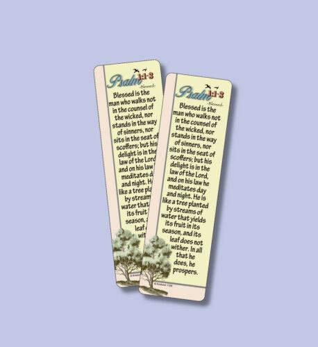 """Psalm 1:1-3 """"Blessed"""" 2 SCRIPTURE VERSE BOOKMARKS - sku# VBM1126"""