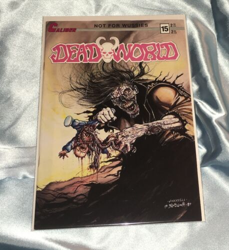 DEADWORLD #15~VINCENT LOCKE ART~ZOMBIES/WALKING DEAD~HTF~CALIBER COMICS BOOK~