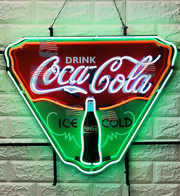 "Drink Coca Cola Ice Cold Neon Light Sign 24""X20"" Beer Lamp Bar Decor Windows"