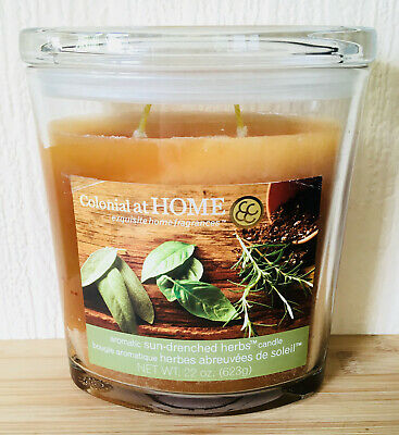 RARE!! Colonial Candle - 22 oz (623g) Aromatic Sun-Drenched Herbs Fragrance