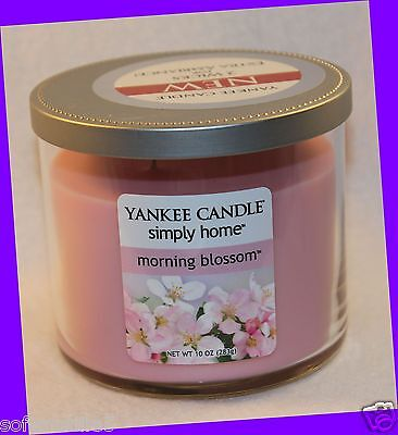 Yankee Candle Simply Home MORNING BLOSSOM Two Wick Jar Candle 10 oz (10 Ounce Blossom Jar)