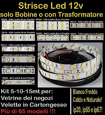 STRISCIA LED STRIP 12v 5 10 metri anche WATERPROOF BOBINA SMD LUCE ALTISSIMA
