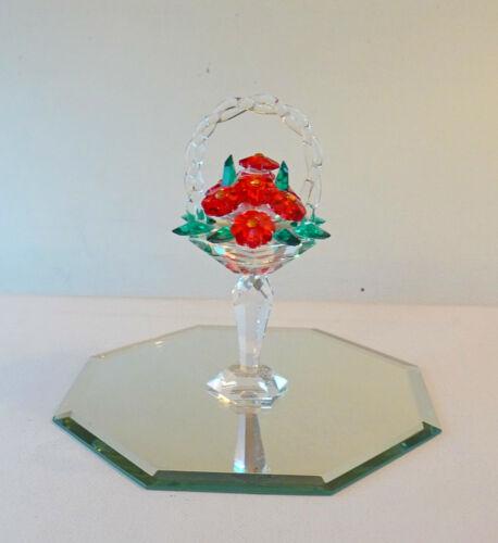 Iris ARC Tall Crystal Flower Basket Limited Edition Swarovski Crystal ~ Rare