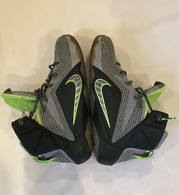 new style 6bde8 f8a38 Nike Size 6 Y Lebron 12 XII Dunk Force Dunkman Electric Green and Wolf Grey