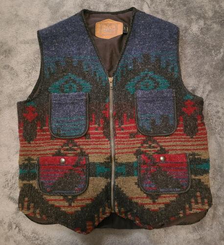 Woolrich Southwestern Aztec Wool Chore Vest Men