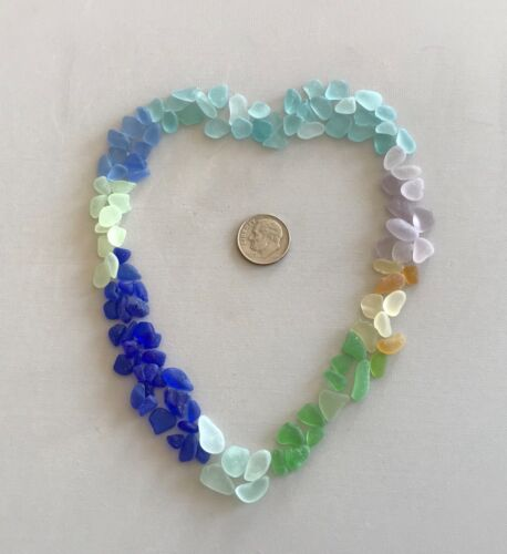 Beach Sea Glass Rainbow of Colors 100 Pieces Tinies Genuine Surf-tumbled