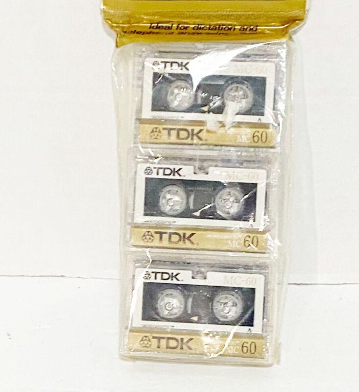 TDK Microcassette MC60 3 Pack