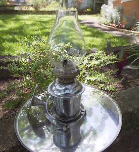 STAINLESS STEEL MARINE GIMBAL OIL LAMP AND BAROMETER Tarragindi Brisbane South West Preview