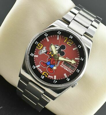 VINTAGE SEIKO 5 AUTOMATIC MICKEY MOUSE 17 JEWELS CAL.7009 DAY DATE MEN'S WATCH