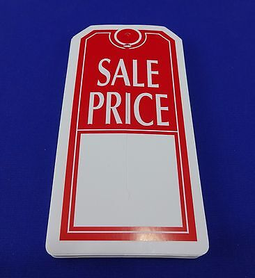 Qty. 50 Red White Sale Price Tags With Slit Merchandise Price Tags