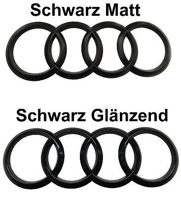 Audi Q5 8R Ringe Schwarz Glanz Matt Hinten Emblem Quattro S-Line V6 TDI SQ5 TFSI