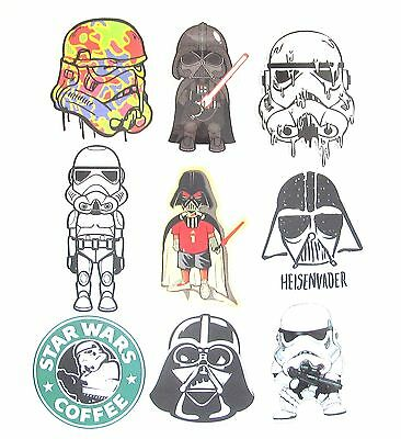 Star Wars Car Sticker- Laptop Wall Mirror Decal Movie Film Character Stickers