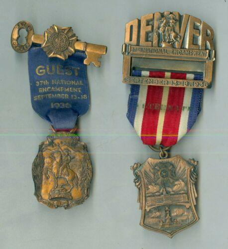 2 September 13-18, 1936 Denver, Colorado US Veterans of Foreign Wars Badges