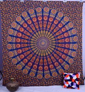 Mandala indien hippie tenture tapisserie murale couvre lit for Decoration murale mandala