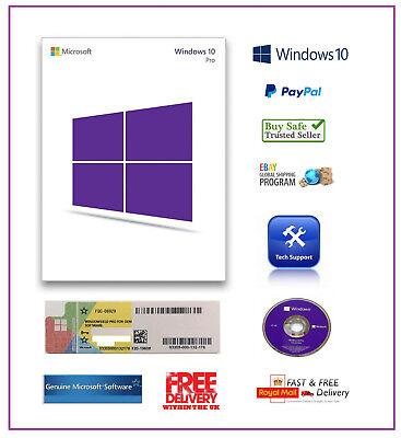 Genuine Sealed Microsoft Windows 10 Pro Professional 64Bit DVD + COA