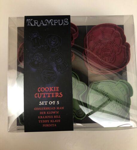 Loot Crate Fright Crate Krampus Cookie Cutters -Plastic, Set of 5 - NIB