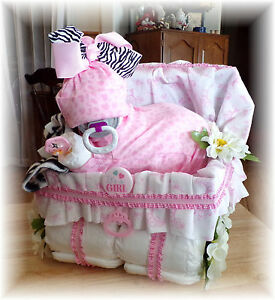 Baby-Shower-Girl-Diaper-Baby-Cake-amp-Stroller
