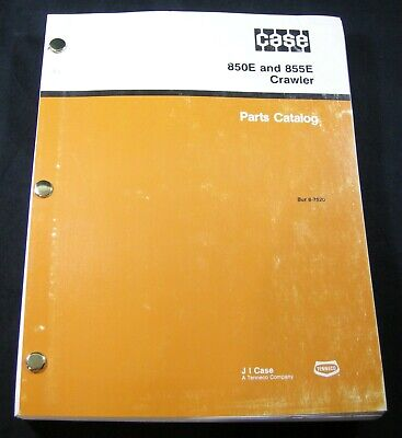 Case 850e 855e Crawler Dozer Tractor Bulldozer Parts Manual Book Catalog List