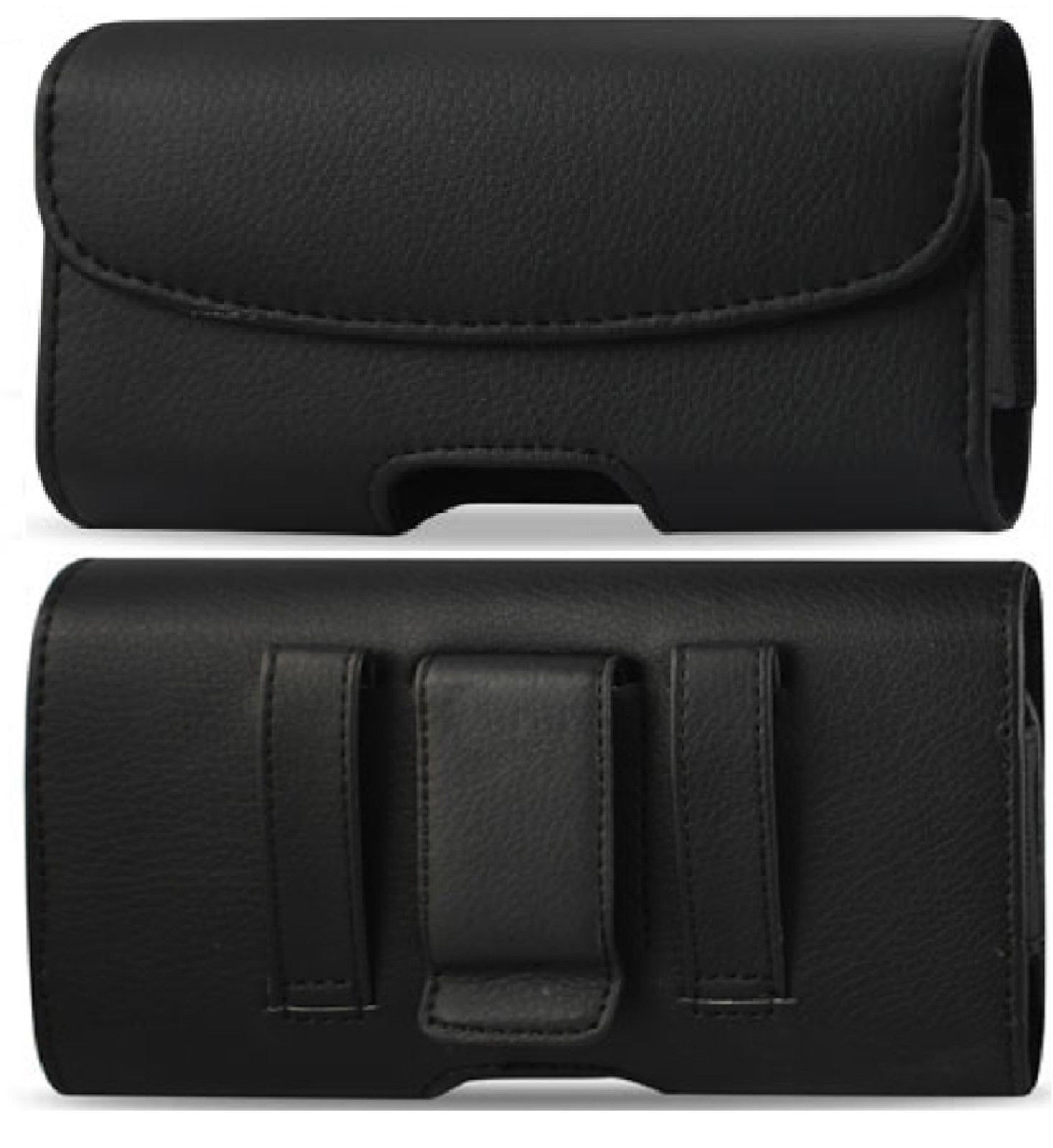 Horizontal Belt Clip With Loop Pouch Case Leather Holster ph