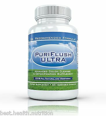 PURIFLUSH ULTRA: Advanced All Natural Colon Cleansing Supplement - 60 ...