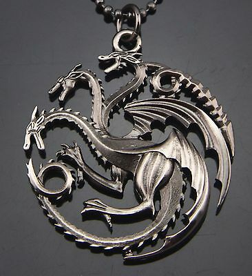 Game of Thrones Targaryen Song of Ice and Fire Dragon Pendant Necklace  (Necklace Game)